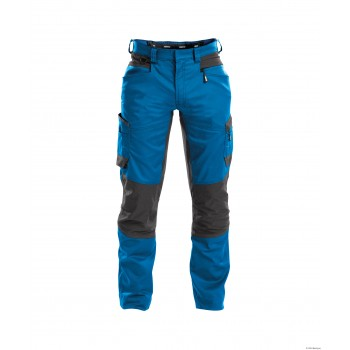 Pantalon HELIX lycra stretch DASSY bleu azur gris anthracite