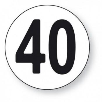 Disque Limitation de vitesse 40 km/h adhésif Sécurama