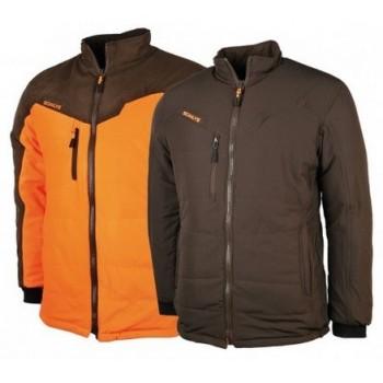 Blouson chasse réversible SOMLYS haut de gamme orange/marron