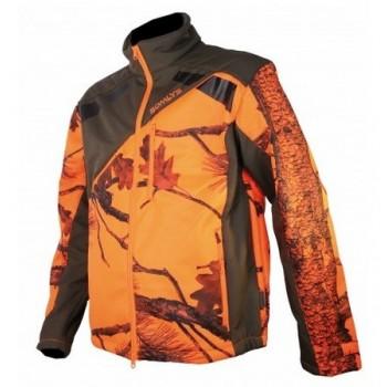 Veste SOMLYS habillée Softshell Newtek sherpa camouflage orange