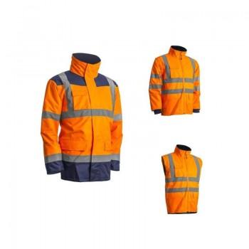 Parka KANATA haute visibilité petite et grande taille 4 en 1 orange COVERGUARD