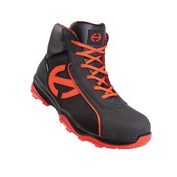 chaussures de securite hautes pour homme en cuir nubuck huilé S3