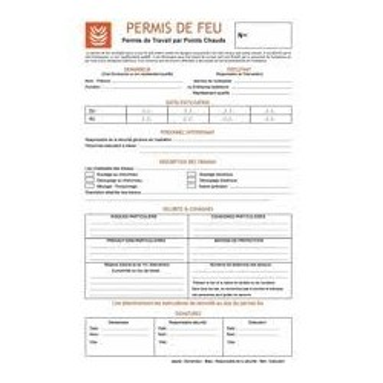 Materiel professionnel : PERMIS FEU x50