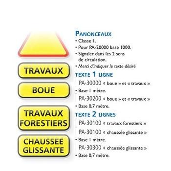 Signalisation : PANONCEAU TEXTE 1 LIGNE (-10%)