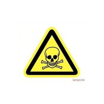 Materiel professionnel : DANGER MATIERE TOXIQUE ADHESIF