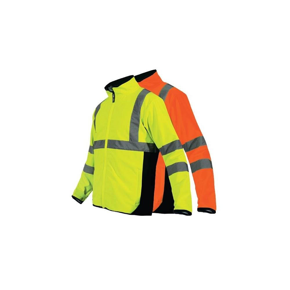 veste haute visibilité softshell orange ou jaune fluo T2S