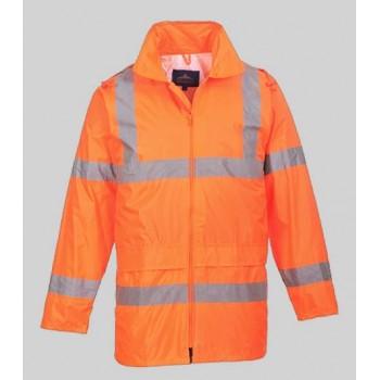 manteau veste de pluie haute visibilité orange