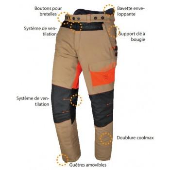 Pantalon bucheronnage solidur classe 1 sofresh été