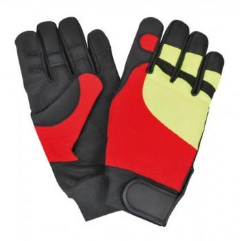 gants anti coupures textile jaune et rouge classe 0 4142 Solidur