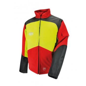 Veste forestière classe 1 solidur comfy rouge et jaune