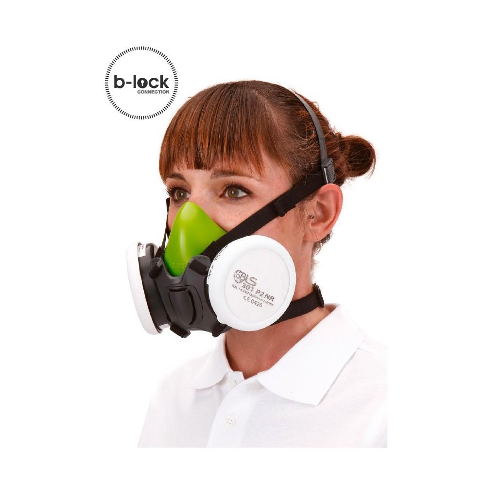 Matériel Professionnel : Demi masque BLS 4000 silicone - cartouche B Lock