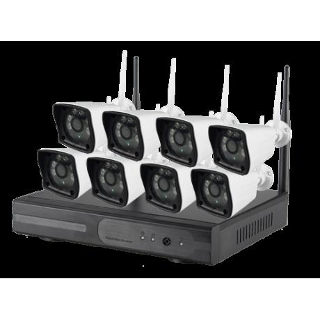 Kit Video-Surveillance Wi-Fi Full HD (8 caméras)