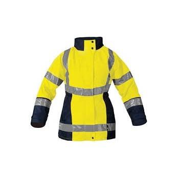 Parka haute visibilité jaune marine Femme 4 en 1 California T2S