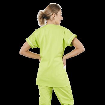 Tunique femme médicale poly coton 200gr TANA bicolore lavage 80°