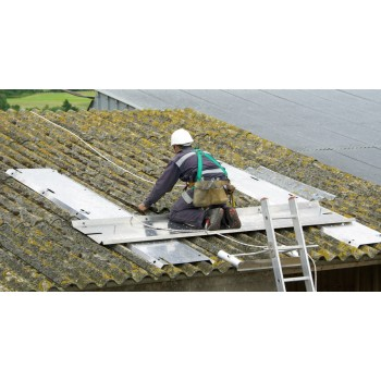 SECURIPLAC intervention sur toiture fibro ciment DIMOS Sécurama