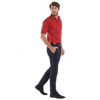 Chemise manches courtes popeline homme UC710 UNEEK Sécurama rouge